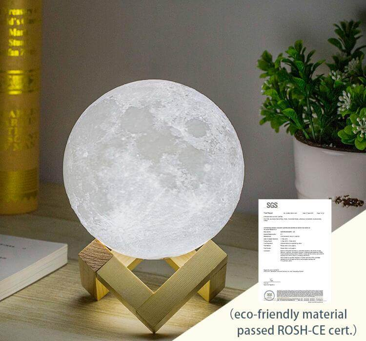 Eco-friendly material Moon lamp - Best Moon Lamp Review - Full Buyer's Guide