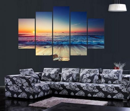 BEACH SUNSET CANVAS PAINTING