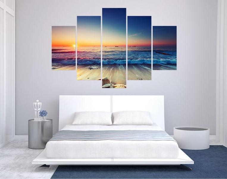 Beach Sunset Canvas Wall Art