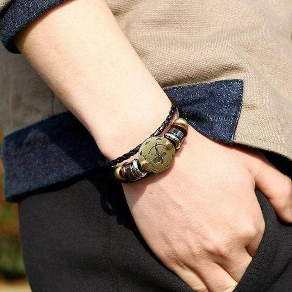 Stylish Bronze Zodiac Leather Bracelets