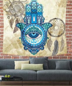 HAMSA DREAM CATCHER TAPESTRY