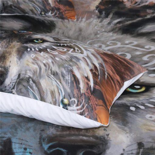 WOLF WARRIOR 3 PIECES BEDDING SET