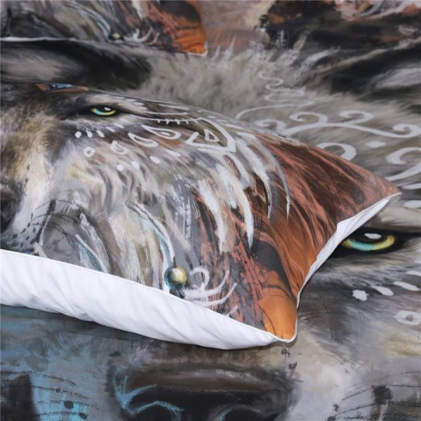 WOLF WARRIOR 3 PIECES BEDDING SET