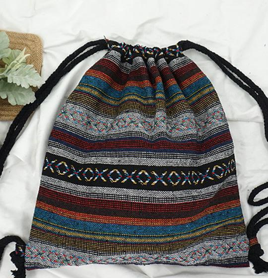 BOHEMIAN ETHNIC DRAWSTRING BAG