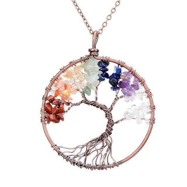 The Benefits Of Wearing Chakra Jewelry - Tree Of Life Chakra Necklace