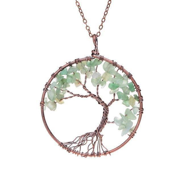 Handmade Chakra Tree Of Life Necklace With Stones 60