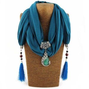 Scarves With Necklace Attached
