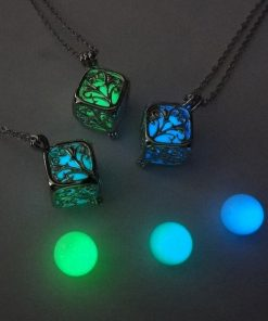 Glowing Cube Glow Locket Necklace