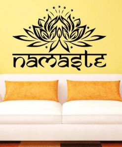 Indian Lotus Namaste Wall Decal
