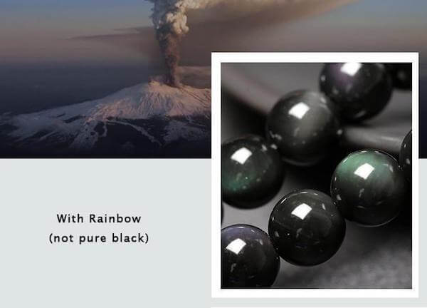 PHOENIX & DRAGON BLACK OBSIDIAN BRACELETS