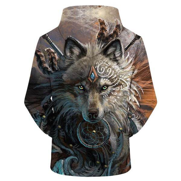 Wolf Warrior by SunimaArt - Wolf 3D Hoodie
