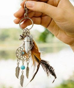 Bohemian dream catcher key chain