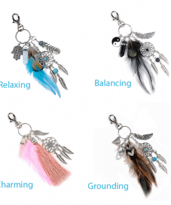 boho dream catcher keychain