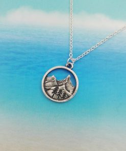 Landscaping Mountain Pendant Necklace
