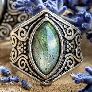 Natural Moonstone Full Moon Ring