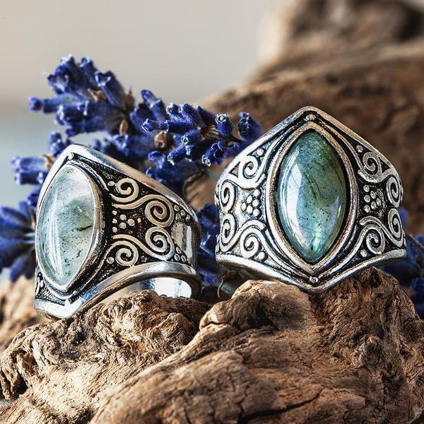 Natural Moonstone Full Moon Ring