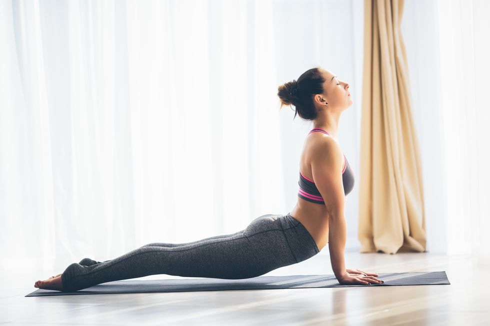 chaturanga yoga pose