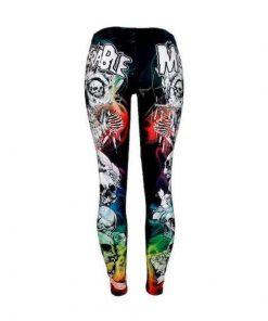 Colorful Punk Skull Leggings