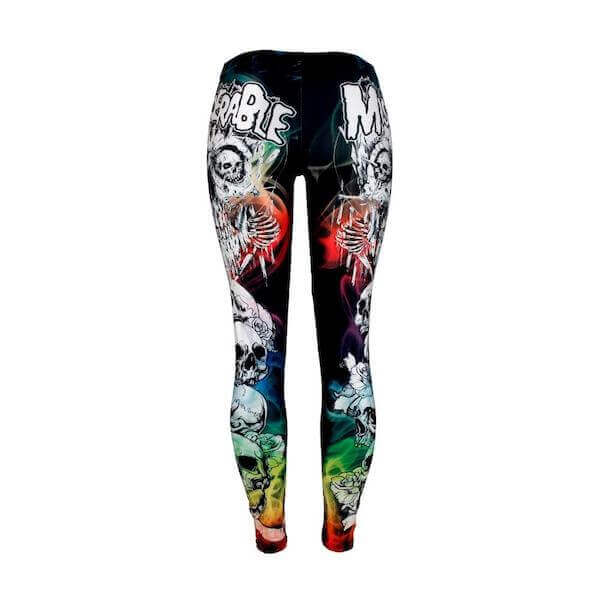 Colorful Punk Skull Leggings