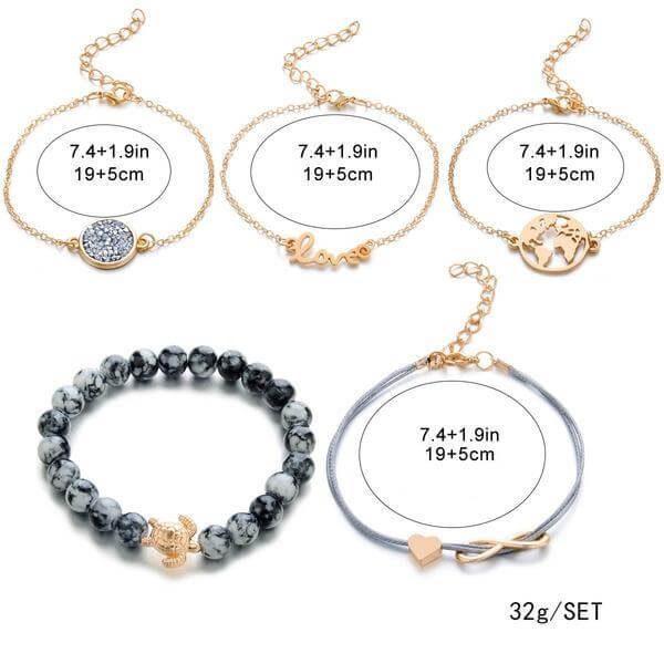 Earth Love Bracelet Set - 5pc