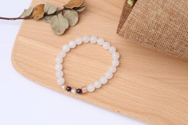 Natural White Chalcedony Positivity Bracelet