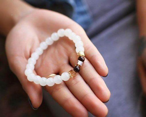 Chalcedony Positivity Bracelet