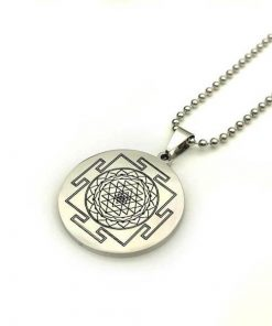 Sacred Sri Yantra Stainless Steel Necklace