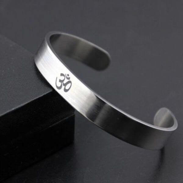 Yoga Symbol Open Bangle