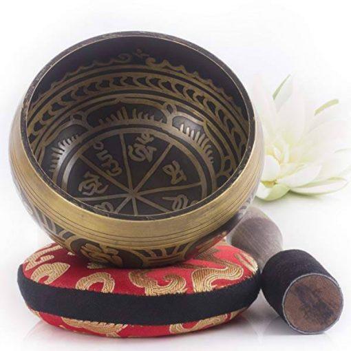 hand hammered tibetan singing bowl