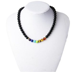 7 Chakras Reiki Healing Heart Necklace