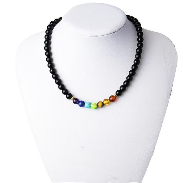 7 Chakras Reiki Healing Heart Necklace