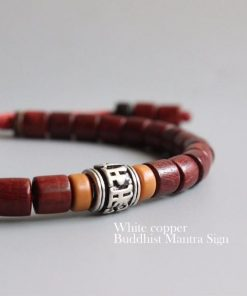 Red Sandalwood Mala Bracelet