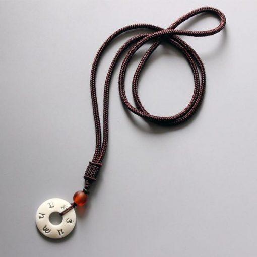 Handmade Mantra Necklace