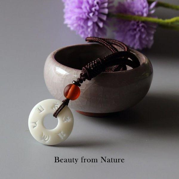 Buddhist Mantra Necklace