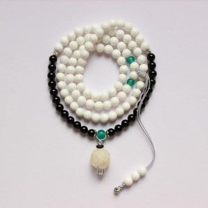 Mother of Pearl With Lotus Flower Bracelet & Necklace