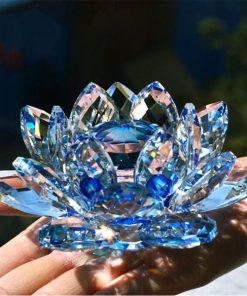 Reiki Feng Shui Crystal Lotus Flower