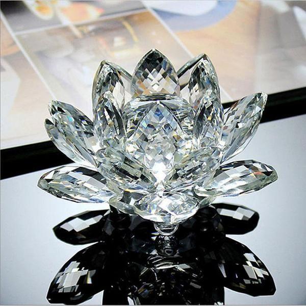 Reiki Feng Shui Crystal Lotus Flower The Yoga Mandala Shop