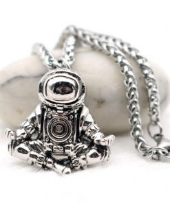 Zen Spaceman Pendant Necklace