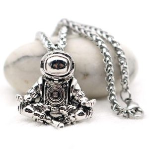 Zen Spaceman Pendant Necklace
