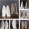 2-Piece Sandstone Prayers of Buddha Statue (1)