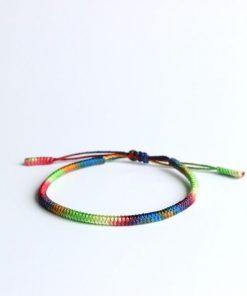 adjustable chakra rope bracelet
