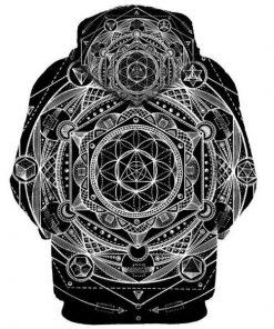 Sacred Geometry Printed Hoodie