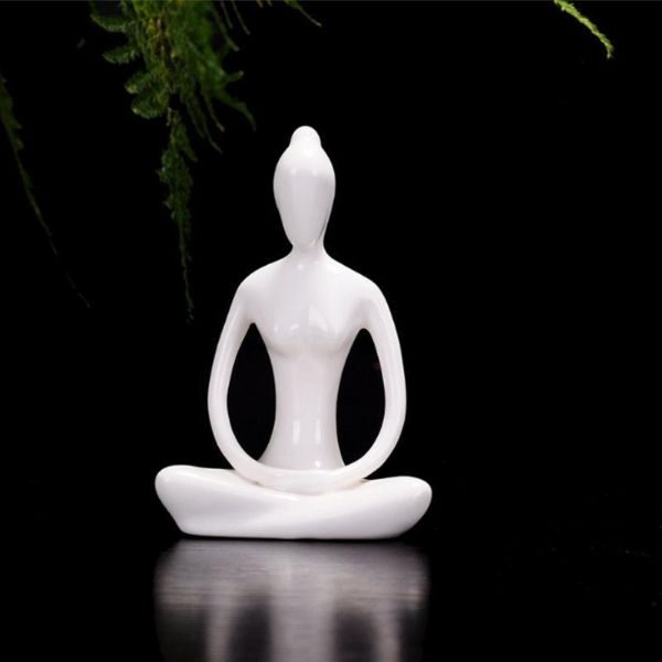 Ceramic Yoga Lady Figurine
