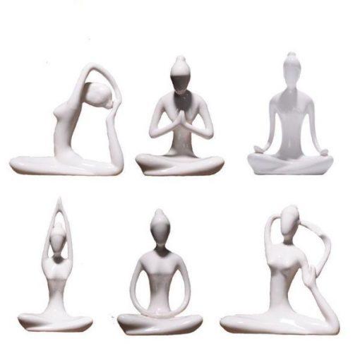 Ceramic Yoga Lady Figurine