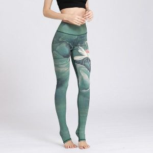 Inner Peace Lotus Yoga Leggings