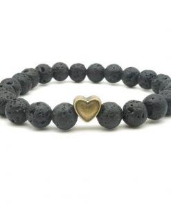 Lava Rock & Bead Diffuser Bracelet