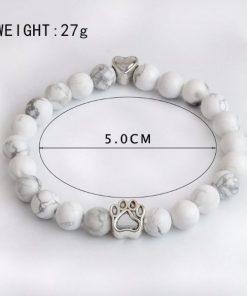Natural Chakra Paw Design Bracelet