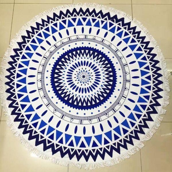 Round Mandala Microfiber Beach Towel