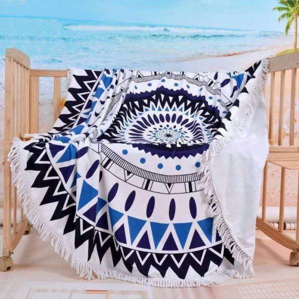 Round Microfiber Beach Towel