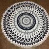 Round Mandala Microfiber Beach Towel (2)